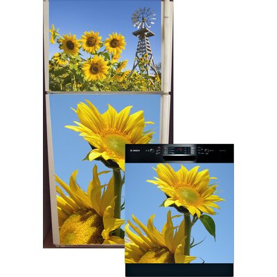 Sunflowers Top And Bottom Refrigerator And Dishwasher Cover