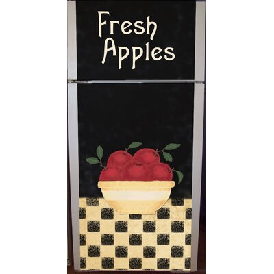 Apple Bowl Top And Bottom Refrigerator Cover