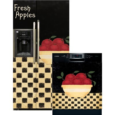 Apple Bowl Side By Side Refrigerator And Dishwasher Cover