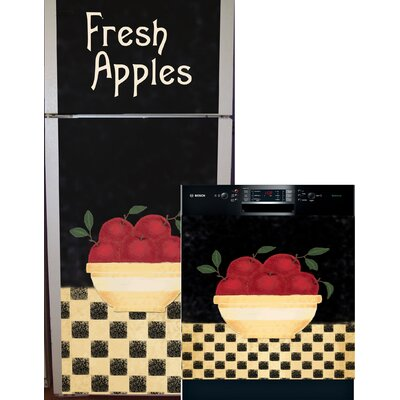 Apple Bowl Top And Bottom Refrigerator And Dishwasher Cover