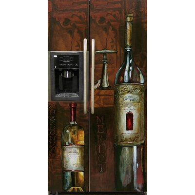 Old World Wine Side By Side Refrigerator Cover