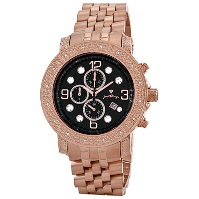 Men's Tazo Watch in Rose Gold with Black Dial
