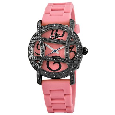 Women's Olympia Diamonds Bezel Watch in Pink