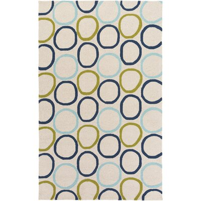 Miranda Navy/Aqua Indoor/Outdoor Area Rug Rug Size: Rectangle 4 x 6