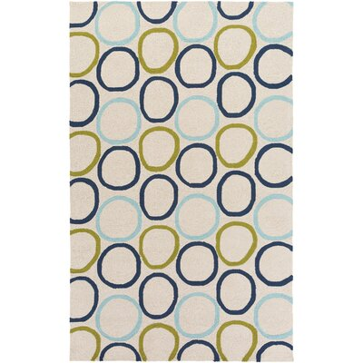 Miranda Navy/Aqua Indoor/Outdoor Area Rug Rug Size: 8 x 10