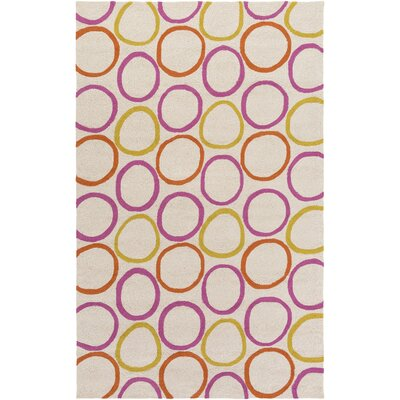 Miranda Magenta/Burnt Orange Indoor/Outdoor Area Rug Rug Size: Rectangle 5 x 76