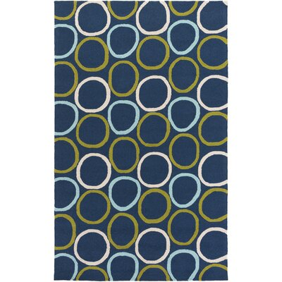 Miranda Navy/Aqua Indoor/Outdoor Area Rug Rug Size: 2 x 3
