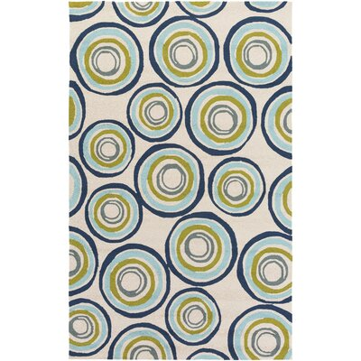 Miranda Navy/Aqua Indoor/Outdoor Area Rug Rug Size: Rectangle 2 x 3