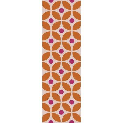 Miranda Burnt Orange/Magenta Indoor/Outdoor Area Rug Rug Size: Runner 26 x 8