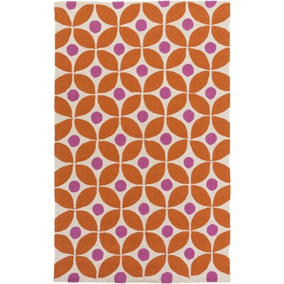 Miranda Burnt Orange/Magenta Indoor/Outdoor Area Rug Rug Size: 5 x 76