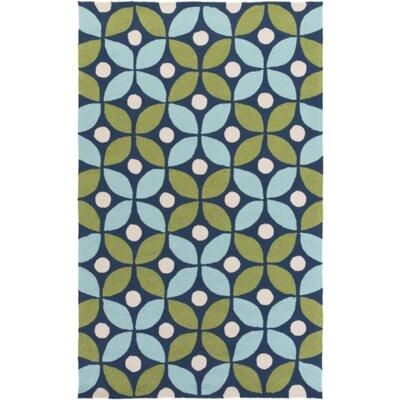 Miranda Green/Aqua Indoor/Outdoor Area Rug Rug Size: Rectangle 5 x 76