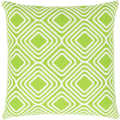 Miranda Cotton Throw Pillow Size: 18 H x 18 W x 4 D, Color: Green