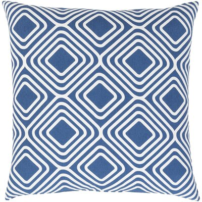 Miranda Cotton Throw Pillow Size: 22 H x 22 W x 5 D, Color: Dark Blue