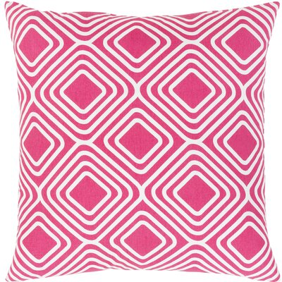Miranda Cotton Throw Pillow Size: 22 H x 22 W x 5 D, Color: Pink