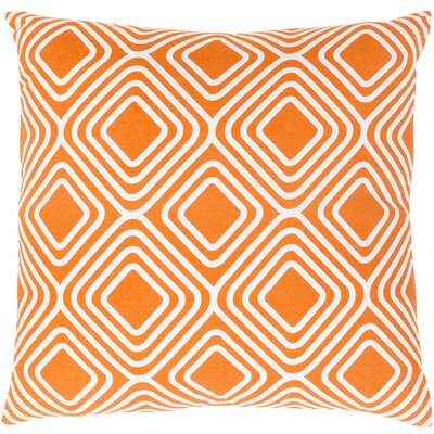 Miranda Cotton Throw Pillow Size: 22 H x 22 W x 5 D, Color: Orange