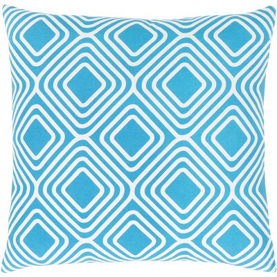 Miranda Cotton Throw Pillow Size: 18 H x 18 W x 4 D, Color: Bright Blue