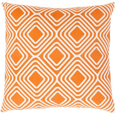 Miranda Cotton Throw Pillow Size: 18 H x 18 W x 4 D, Color: Orange