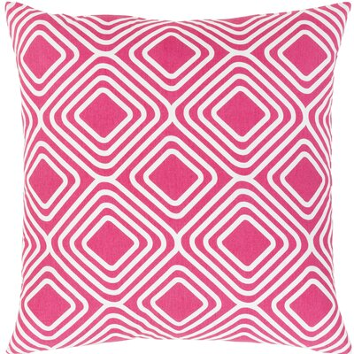 Miranda Cotton Throw Pillow Color: Pink, Size: 20 H x 20 W x 5 D