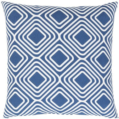 Miranda Cotton Throw Pillow Size: 20 H x 20 W x 5 D, Color: Dark Blue