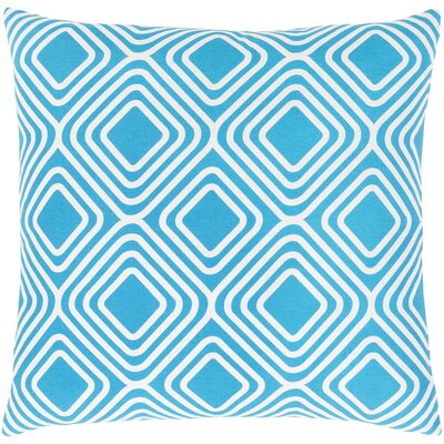 Miranda Cotton Throw Pillow Size: 22 H x 22 W x 5 D, Color: Bright Blue