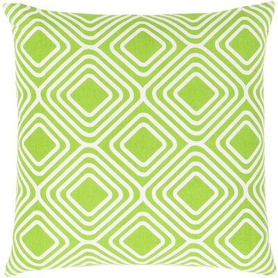 Miranda Cotton Throw Pillow Size: 20 H x 20 W x 5 D, Color: Green