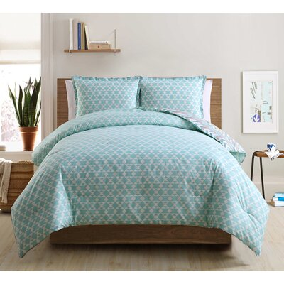 3-Piece Quilt Set Color: Aqua, Size: Queen