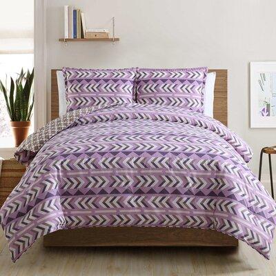 3-Piece Quilt Set Color: Violet, Size: Queen