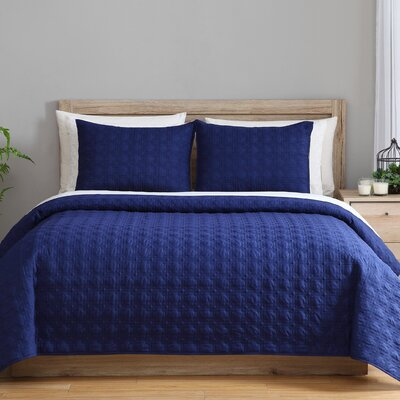 3 Piece Twin Reversible Coverlet Set Color: Moonlight