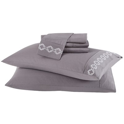 4 Piece Solid 200 Thread Count 100% Cotton Sheet Set Size: Twin, Color: Frost