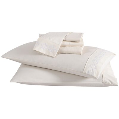 4 Piece Solid 200 Thread Count 100% Cotton Sheet Set Color: Snow, Size: Twin
