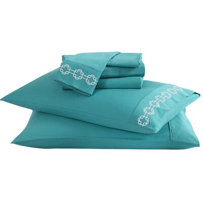 4 Piece Solid 200 Thread Count 100% Cotton Sheet Set Color: Lagoon, Size: Twin C13-STS-TWIN-IN-40
