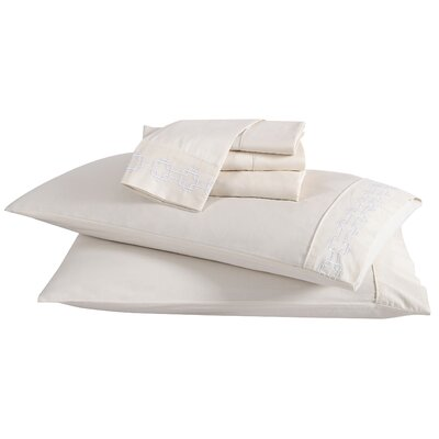 6 Piece Solid 200 Thread Count 100% Cotton Sheet Set Size: Full, Color: Snow