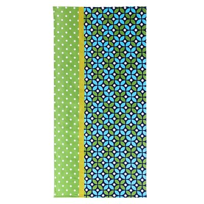 Cirque 100% Cotton Beach Towel Color: Blue/Green