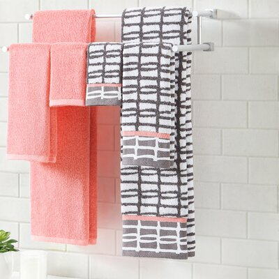 6 Piece Towel Set Color: Storm