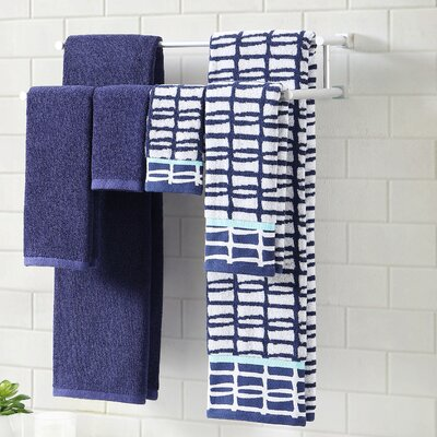 6 Piece Towel Set Color: Moonlight