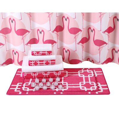 Flamingos 15 Piece Bath Rug Set