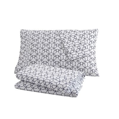 Fractal 100% Cotton Sheet Set Size: Twin