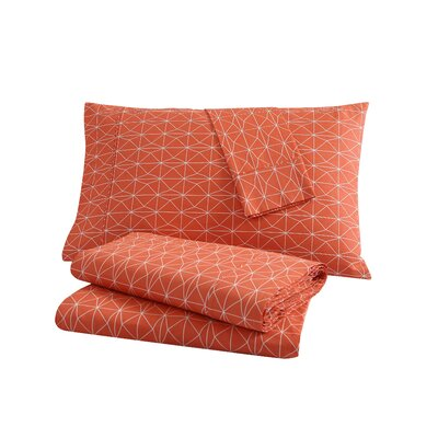 Geometric 200 Thread Count 100% Cotton Sheet Set Size: Twin