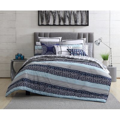 Fractal Reversible Comforter Set Size: King