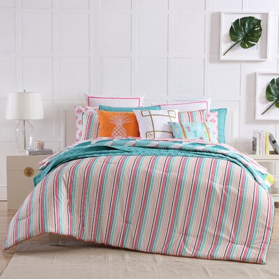 Tropical Reversible Comforter Set Size: Twin XL