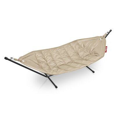 Headdemock Deluxe Polyester Hammock with Stand Color: Sand