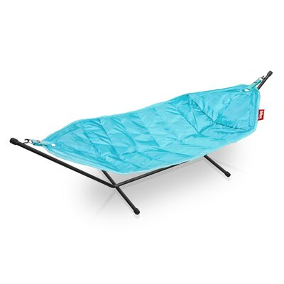 Headdemock Deluxe Polyester Hammock with Stand Color: Turquoise