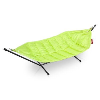 Headdemock Deluxe Polyester Hammock with Stand Color: Lime Green