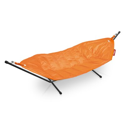 Headdemock Deluxe Polyester Hammock with Stand Color: Orange