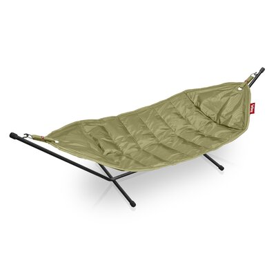 Headdemock Deluxe Polyester Hammock with Stand Color: Olive