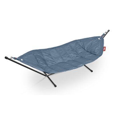 Headdemock Deluxe Polyester Hammock with Stand Color: Jeans Light Blue