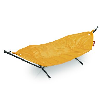 Headdemock Deluxe Polyester Hammock with Stand Color: Yellow Ochre