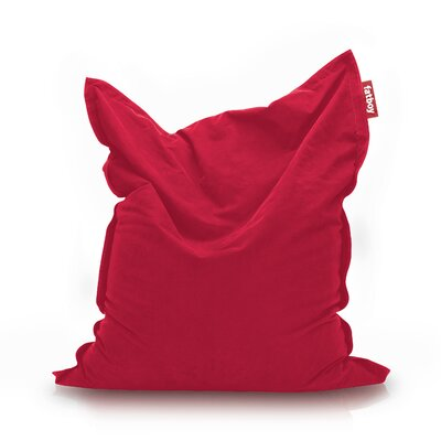 Original Stonewashed Bean Bag Lounger Upholstery: Red