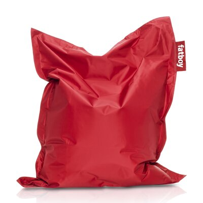 Junior Bean Bag Lounger Upholstery: Red