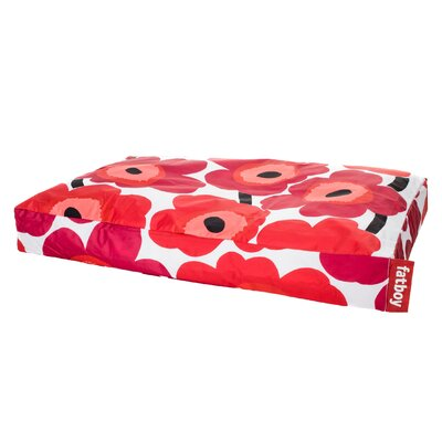 Doggielounge Marimekko Unikko Dog Pad Size: Small (32 W x 24 D x 6 H), Color: Red